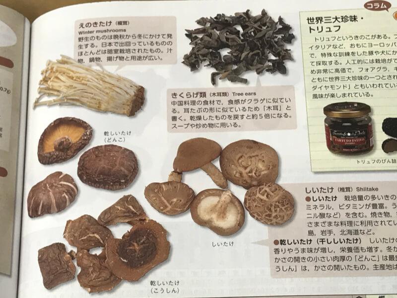 干椎茸の栄養